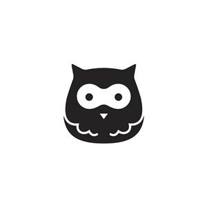 猫头鹰矢量图标