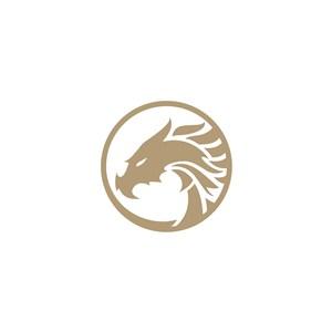 龙矢量logo图标