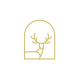 鹿矢量logo圖標