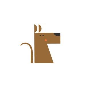 小狗矢量圖標