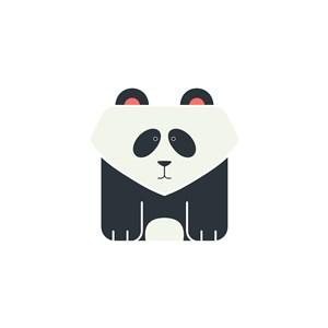 熊貓logo素材