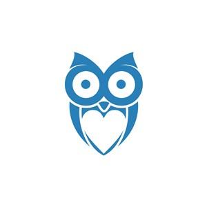 貓頭鷹logo素材