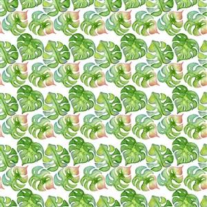 水彩暈染樹葉底紋背景