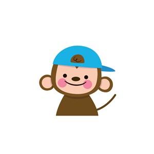 猴子logo素材