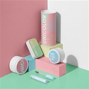 时尚化妆品包装设计模板样机