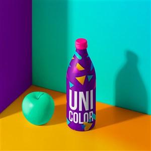 时尚创意饮料包装设计模板样机