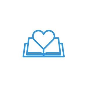 教育培訓機構書愛心logo素材