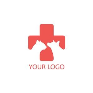 十字动物logo素材