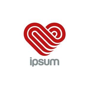愛心字母logo素材