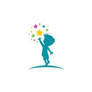 儿童星星logo素材