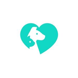 爱心动物logo素材