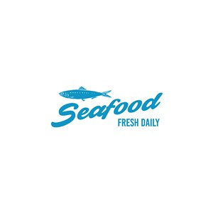 鱼字母logo素材
