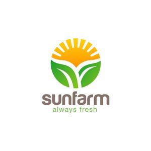 陽光樹葉logo素材