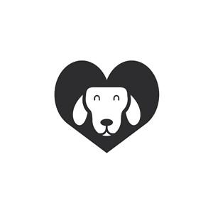 狗爱心logo素材