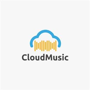 云几何图案logo素材