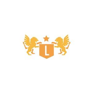 黄金狮子锦旗logo素材