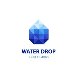 水滴幾何圖案logo素材