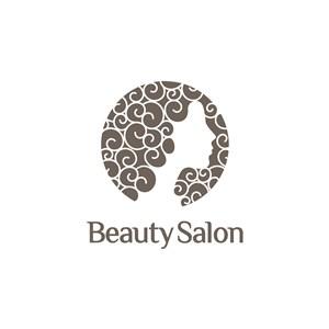 女人頭字母logo素材
