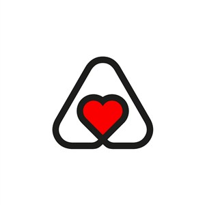 爱心几何图案logo素材