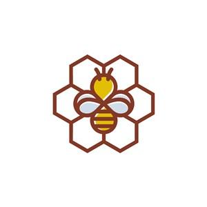 蜜蜂几何图案logo素材