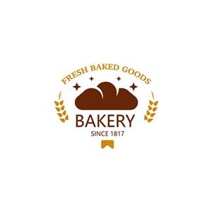 面包星星麦穗字母logo素材