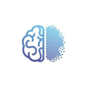 大腦幾何圖案logo素材