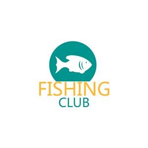 魚字母logo素材