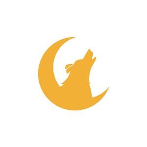 狼月亮logo素材
