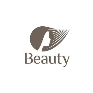 女人头字母logo素材