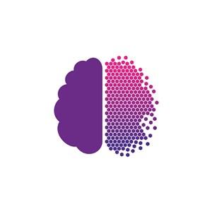 大脑几何图案logo素材