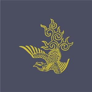 矢量中式鳳凰圖案底紋