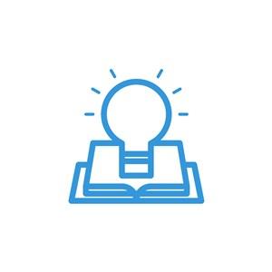 书本灯泡logo素材