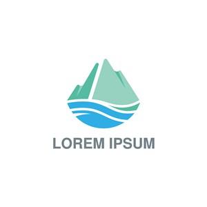 山水logo素材