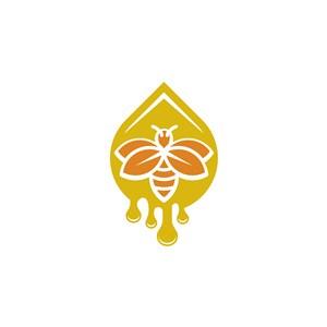 蜜蜂蜂蜜logo素材
