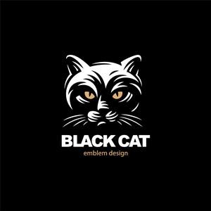猫字母logo素材