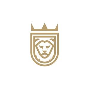 獅子盾牌皇冠logo素材