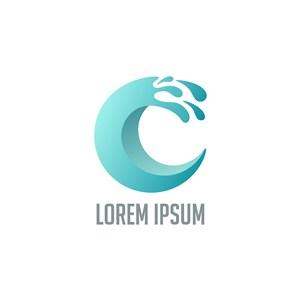 水字母logo素材