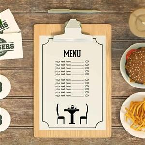 餐廳菜單樣機模板
