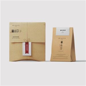 茶葉品牌牛皮紙包裝樣機