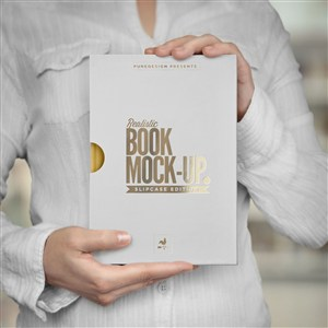 精美书籍封面贴图样机