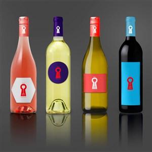 酒瓶包装样机效果图