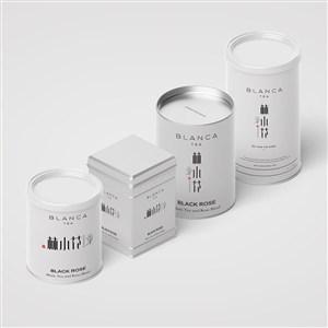 精美茶叶包装罐样机