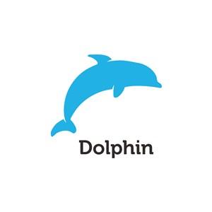 藍色海豚logo素材