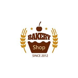 蛋糕麦穗logo素材