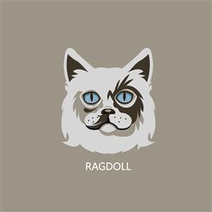 设计传媒logo素材猫矢量图标