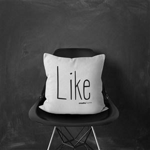 現代簡約黑白靠墊沙發樣板房軟裝抱枕靠枕樣機