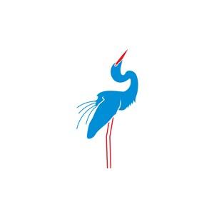 設計傳媒矢量標志藍色鳥矢量圖標