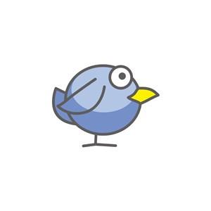 卡通小鳥服裝公司logo設計素材