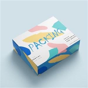 時尚包裝樣機方形紙盒包裝貼圖樣機