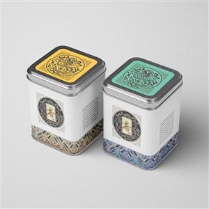 复古方形茶叶铁罐包装茶叶铁罐密封包装